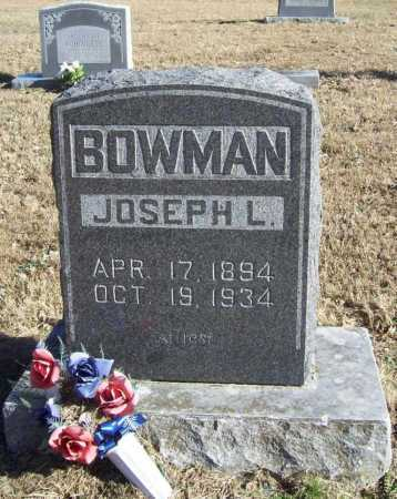 BOWMAN, JOSEPH L. - Benton County, Arkansas | JOSEPH L. BOWMAN - Arkansas Gravestone Photos