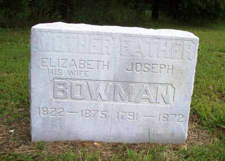 BOWMAN, ELIZABETH - Benton County, Arkansas | ELIZABETH BOWMAN - Arkansas Gravestone Photos