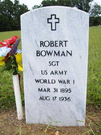 BOWMAN (VETERAN WWI), ROBERT - Benton County, Arkansas | ROBERT BOWMAN (VETERAN WWI) - Arkansas Gravestone Photos