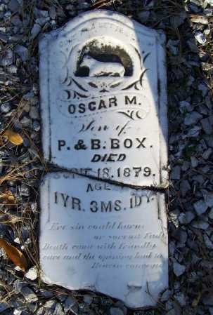 BOX, OSCAR M. - Benton County, Arkansas | OSCAR M. BOX - Arkansas Gravestone Photos