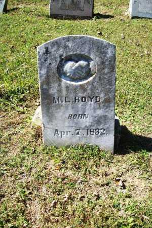BOYD, M. L. - Benton County, Arkansas | M. L. BOYD - Arkansas Gravestone Photos