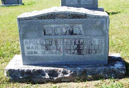 BOYD, STEPHEN D. - Benton County, Arkansas | STEPHEN D. BOYD - Arkansas Gravestone Photos