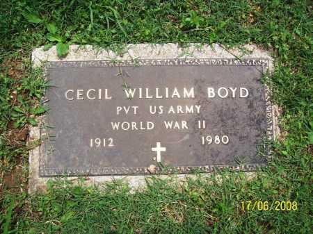 BOYD (VETERAN WWII), CECIL WILLIAM - Benton County, Arkansas | CECIL WILLIAM BOYD (VETERAN WWII) - Arkansas Gravestone Photos