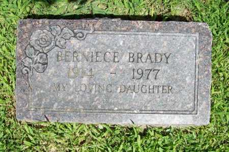 BRADY, BERNIECE - Benton County, Arkansas | BERNIECE BRADY - Arkansas Gravestone Photos