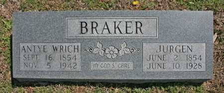 BRAKER, ANTYE - Benton County, Arkansas | ANTYE BRAKER - Arkansas Gravestone Photos