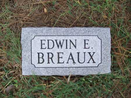 BREAUX, EDWIN E. (FOOTSTONE) - Benton County, Arkansas | EDWIN E. (FOOTSTONE) BREAUX - Arkansas Gravestone Photos