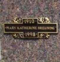 BREUNING, MARY KATHERINE - Benton County, Arkansas | MARY KATHERINE BREUNING - Arkansas Gravestone Photos