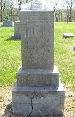 BREWER, ZELDA - Benton County, Arkansas | ZELDA BREWER - Arkansas Gravestone Photos