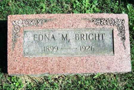 BRIGHT, EDNA M. - Benton County, Arkansas | EDNA M. BRIGHT - Arkansas Gravestone Photos