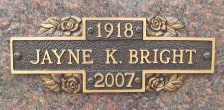KIEFER BRIGHT, JAYNE - Benton County, Arkansas | JAYNE KIEFER BRIGHT - Arkansas Gravestone Photos
