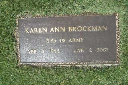 BROCKMAN (VETERAN), KAREN ANN - Benton County, Arkansas | KAREN ANN BROCKMAN (VETERAN) - Arkansas Gravestone Photos