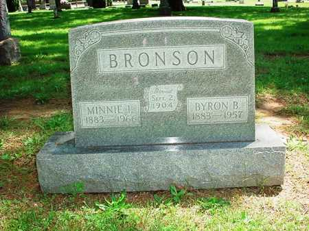 BRONSON, MINNIE I. - Benton County, Arkansas | MINNIE I. BRONSON - Arkansas Gravestone Photos