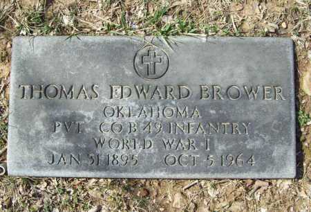 BROWER (VETERAN WWI), THOMAS EDWARD - Benton County, Arkansas | THOMAS EDWARD BROWER (VETERAN WWI) - Arkansas Gravestone Photos