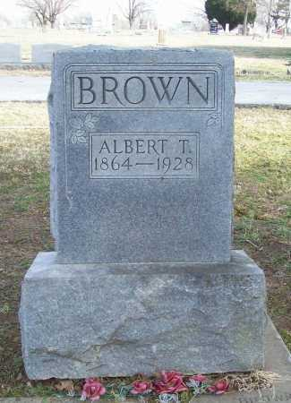 BROWN, ALBERT T. - Benton County, Arkansas | ALBERT T. BROWN - Arkansas Gravestone Photos