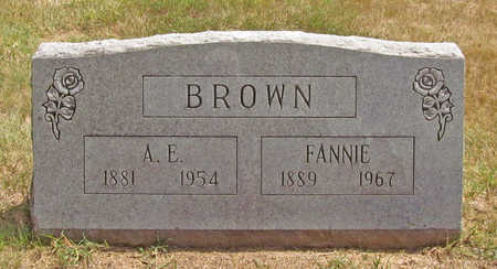 BROWN, A E - Benton County, Arkansas | A E BROWN - Arkansas Gravestone Photos