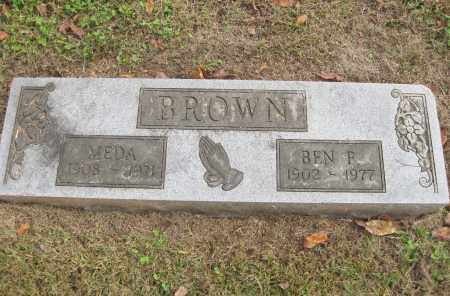 BROWN, BEN F. - Benton County, Arkansas | BEN F. BROWN - Arkansas Gravestone Photos