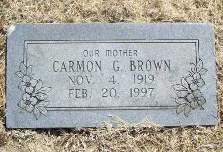 BROWN, CARMON G. - Benton County, Arkansas | CARMON G. BROWN - Arkansas Gravestone Photos
