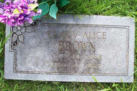 BROWN, CLARA ALICE - Benton County, Arkansas | CLARA ALICE BROWN - Arkansas Gravestone Photos