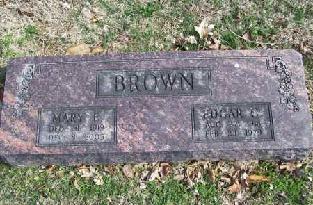 BROWN, MARY E. - Benton County, Arkansas | MARY E. BROWN - Arkansas Gravestone Photos