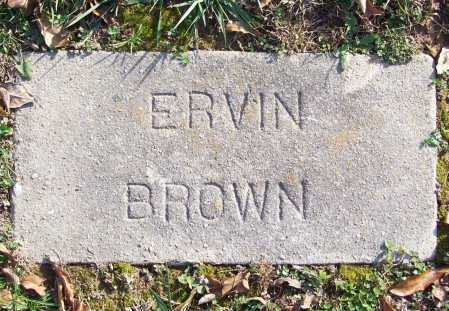 BROWN, ERVIN - Benton County, Arkansas | ERVIN BROWN - Arkansas Gravestone Photos