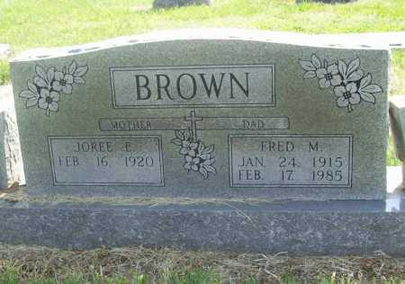BROWN, JOREE EILEEN RUTH - Benton County, Arkansas | JOREE EILEEN RUTH BROWN - Arkansas Gravestone Photos