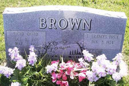 BROWN, FLOYD DAVID - Benton County, Arkansas | FLOYD DAVID BROWN - Arkansas Gravestone Photos