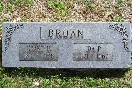 BROWN, IDA P. - Benton County, Arkansas | IDA P. BROWN - Arkansas Gravestone Photos