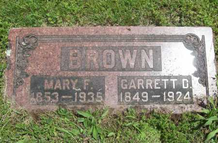 BROWN, MARY F. - Benton County, Arkansas | MARY F. BROWN - Arkansas Gravestone Photos