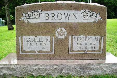 BROWN, ISABELLE R. - Benton County, Arkansas | ISABELLE R. BROWN - Arkansas Gravestone Photos