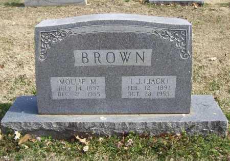 BROWN, MOLLIE MIONA - Benton County, Arkansas | MOLLIE MIONA BROWN - Arkansas Gravestone Photos