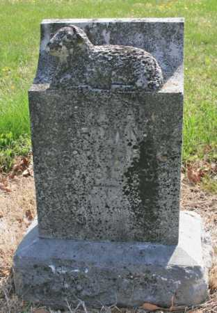 BROWN, ILLEGIBLE - Benton County, Arkansas | ILLEGIBLE BROWN - Arkansas Gravestone Photos