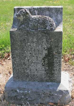 BROWN, ILLEGIBLE - Benton County, Arkansas   ILLEGIBLE BROWN - Arkansas Gravestone Photos