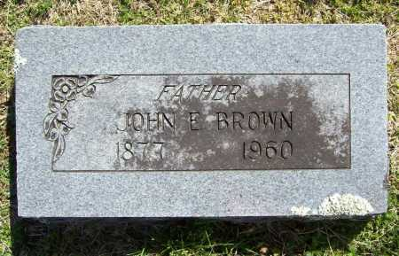 BROWN, JOHN E. - Benton County, Arkansas | JOHN E. BROWN - Arkansas Gravestone Photos
