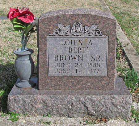 "BROWN, LOUIS A ""BERT"" SR - Benton County, Arkansas | LOUIS A ""BERT"" SR BROWN - Arkansas Gravestone Photos"