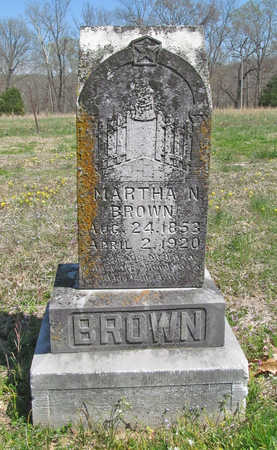 BASINGER BROWN, MARTHA MALINDA - Benton County, Arkansas | MARTHA MALINDA BASINGER BROWN - Arkansas Gravestone Photos