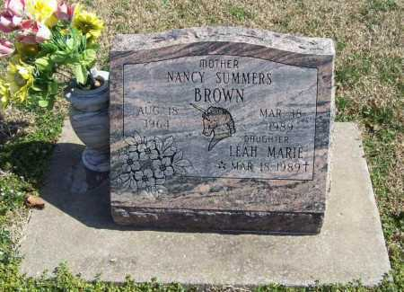 BROWN, NANCY - Benton County, Arkansas | NANCY BROWN - Arkansas Gravestone Photos