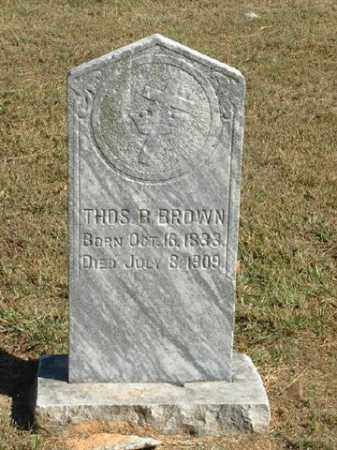 BROWN (VETERAN CSA), THOMAS B. - Benton County, Arkansas | THOMAS B. BROWN (VETERAN CSA) - Arkansas Gravestone Photos