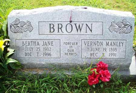 BROWN, BERTHA JANE - Benton County, Arkansas | BERTHA JANE BROWN - Arkansas Gravestone Photos