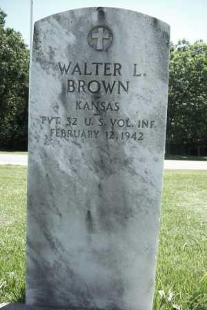 BROWN (VETERAN), WALTER L. - Benton County, Arkansas | WALTER L. BROWN (VETERAN) - Arkansas Gravestone Photos