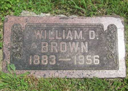 BROWN, WILLIAM D. - Benton County, Arkansas | WILLIAM D. BROWN - Arkansas Gravestone Photos