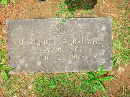 BROWNE, MARGARET A. - Benton County, Arkansas | MARGARET A. BROWNE - Arkansas Gravestone Photos