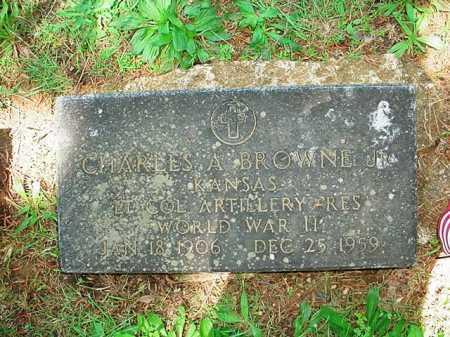 BROWNE, JR (VETERAN WWII), CHARLES A - Benton County, Arkansas | CHARLES A BROWNE, JR (VETERAN WWII) - Arkansas Gravestone Photos