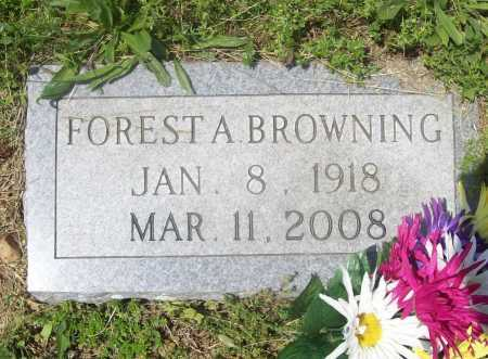 BROWNING, FOREST A. - Benton County, Arkansas | FOREST A. BROWNING - Arkansas Gravestone Photos