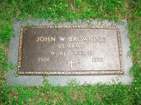 BROWNING (VETERAN WWII), JOHN W. - Benton County, Arkansas | JOHN W. BROWNING (VETERAN WWII) - Arkansas Gravestone Photos