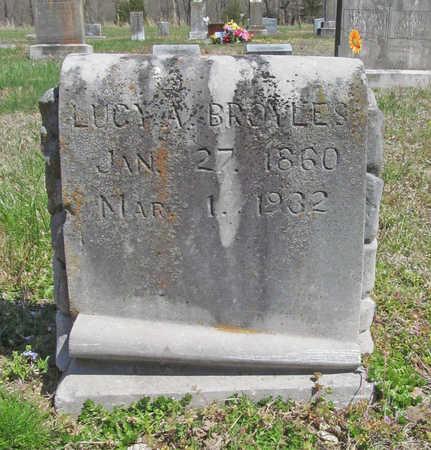 BROYLES, LUCY A - Benton County, Arkansas | LUCY A BROYLES - Arkansas Gravestone Photos