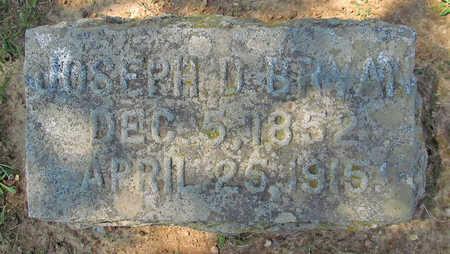 BRYAN, JOSEPH D - Benton County, Arkansas | JOSEPH D BRYAN - Arkansas Gravestone Photos