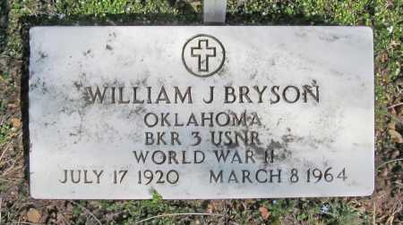 BRYSON (VETERAN WWII), WILLIAM J - Benton County, Arkansas | WILLIAM J BRYSON (VETERAN WWII) - Arkansas Gravestone Photos