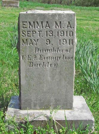 BUCKLEY, EMMA M A - Benton County, Arkansas | EMMA M A BUCKLEY - Arkansas Gravestone Photos