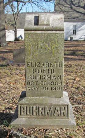 BUHRMAN, ELIZABETH KOEHL - Benton County, Arkansas | ELIZABETH KOEHL BUHRMAN - Arkansas Gravestone Photos