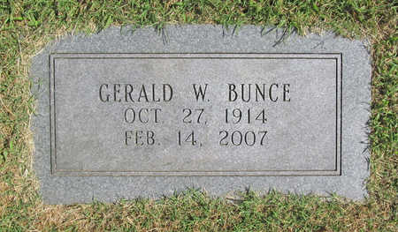 BUNCE, GERALD WILLARD - Benton County, Arkansas | GERALD WILLARD BUNCE - Arkansas Gravestone Photos
